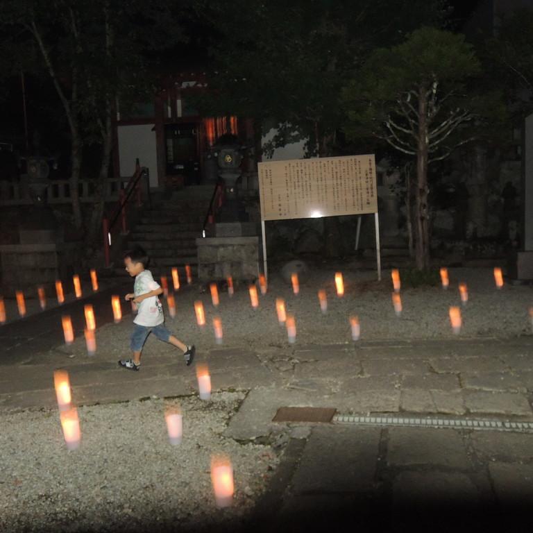 9/1 龍泉寺境内で一晩だけの燈花会(とうかえ)が行われました。