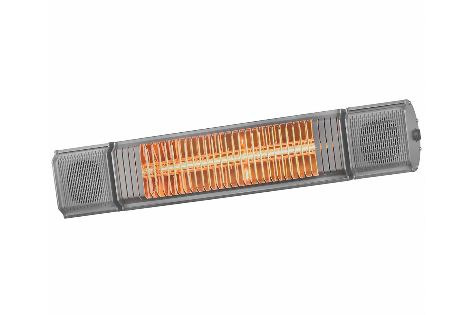 Naast muziek en sfeerverlichting is de Heat and Beat ook een uitmuntende terrasverwarmer van professionele kwaliteit. De Low-glare golden lamp is traploos te dimmen, zodat je altijd optimale verwarming geniet, in ieder seizoen.