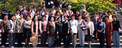 瑞穂町商工会女性部の先進地視察研修の集合写真(京都府にて)