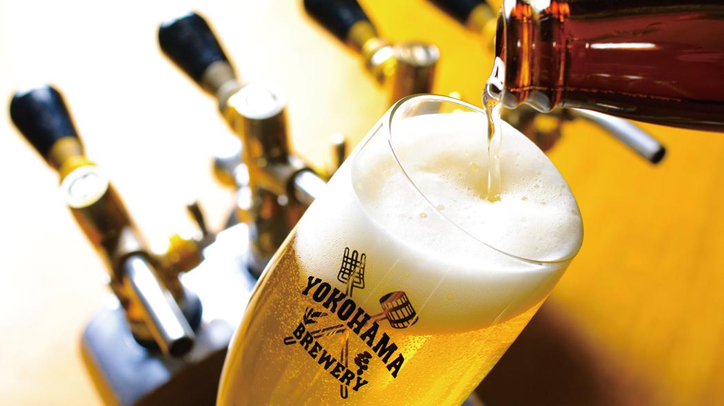 横浜ビールでは自慢の飲み比べセット(1,500円相当)付。
