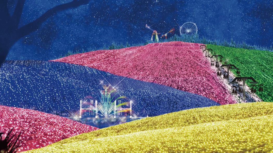関東最大級600万球のイルミネーションで魅了する「相模湖イルミリオン」。