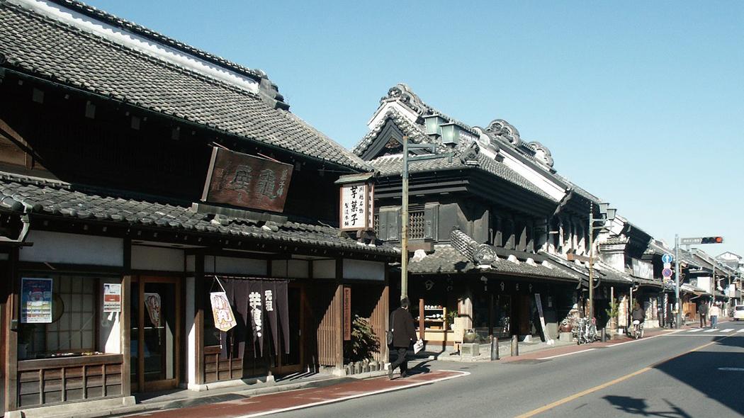 重要伝統的建造物群保存地区に指定されている蔵づくりの町並み。