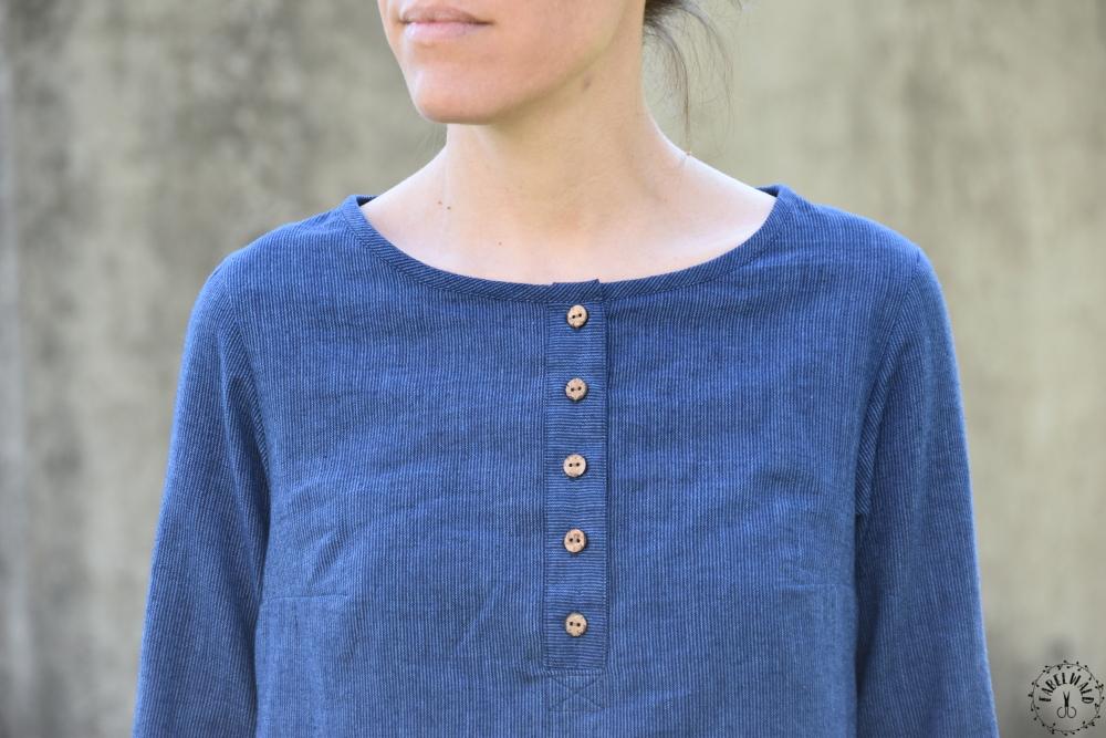 Bluse ROBINIA mit Poloverschluss