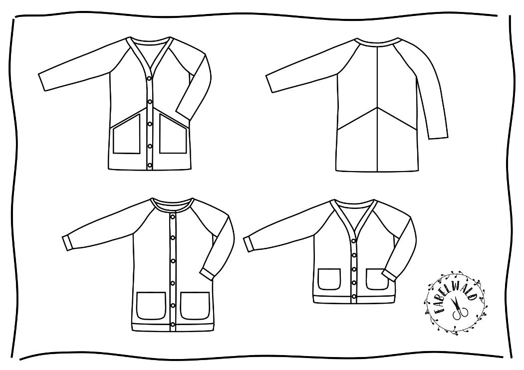 Neues Cardigan-Schnittmuster für Damen: PICEA