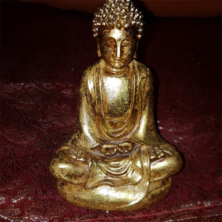 Goldene Buddha Figur