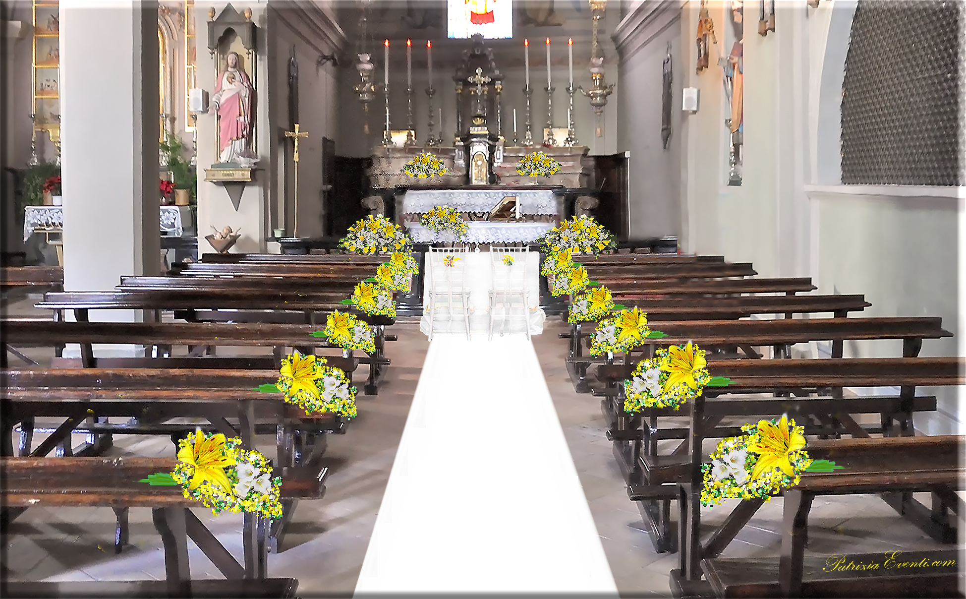 Matrimonio Girasoli Chiesa : I progetti fiori matrimonio addobbi floreali wedding