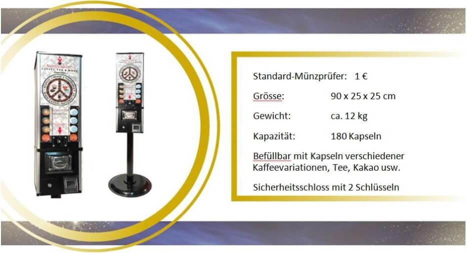 Technische Informationen und Wahlmöglichkeiten für den Kaffeekapsel-Automat für Lavazza