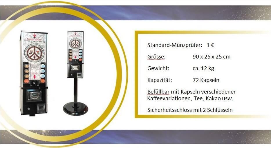 Technische Informationen und Wahlmöglichkeiten für den Kaffeekapsel-Automat für Dolce Gusto
