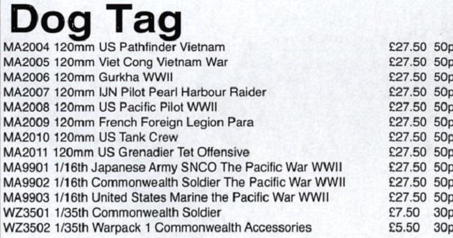 Dog Tag - Miniature Alliance  list sep 2003