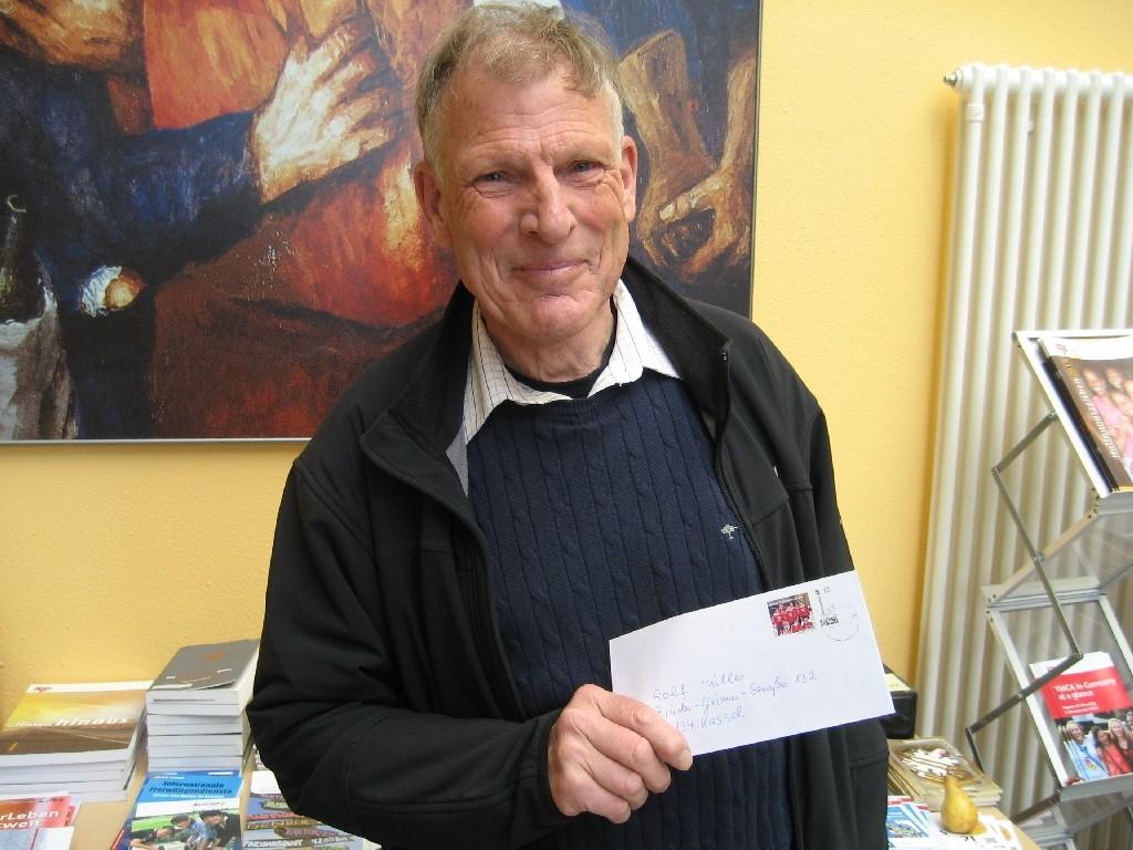 Rolf Müller vom deutschen CVJM