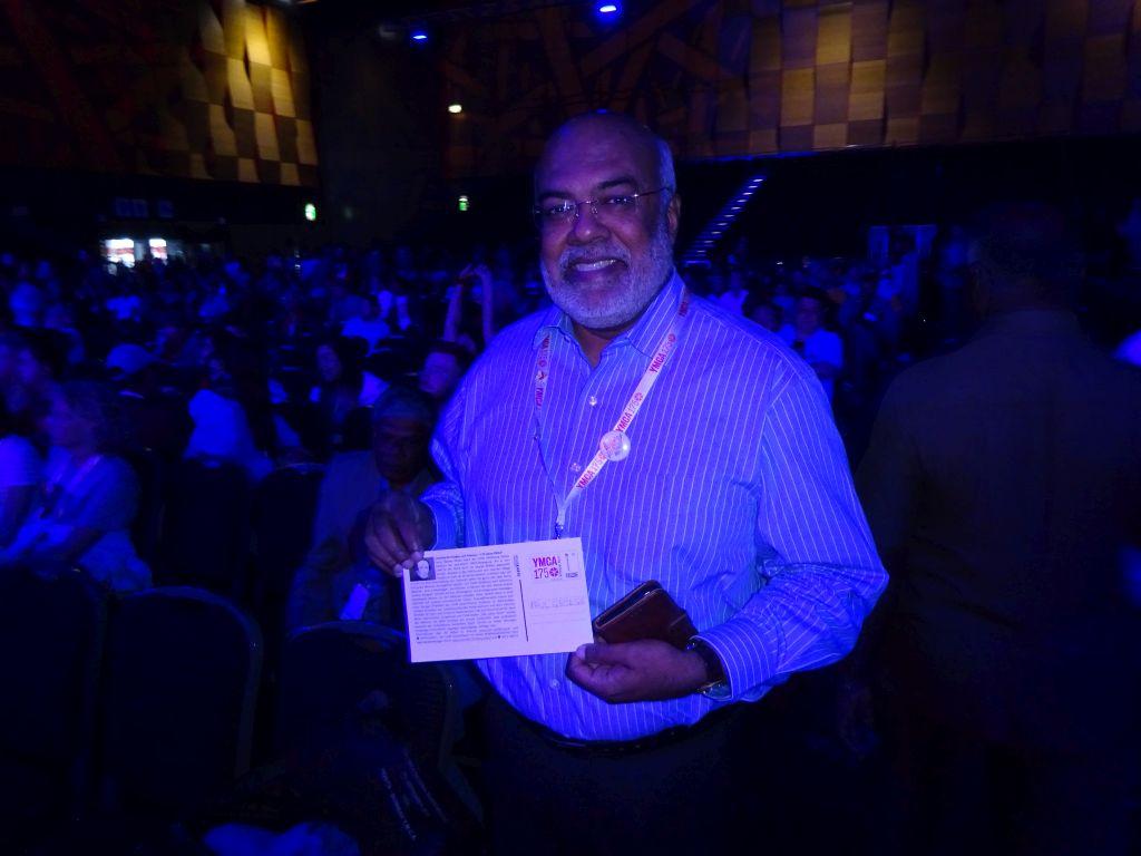 Paul George vom indischen YMCA und von der World Alliance of YMCAs