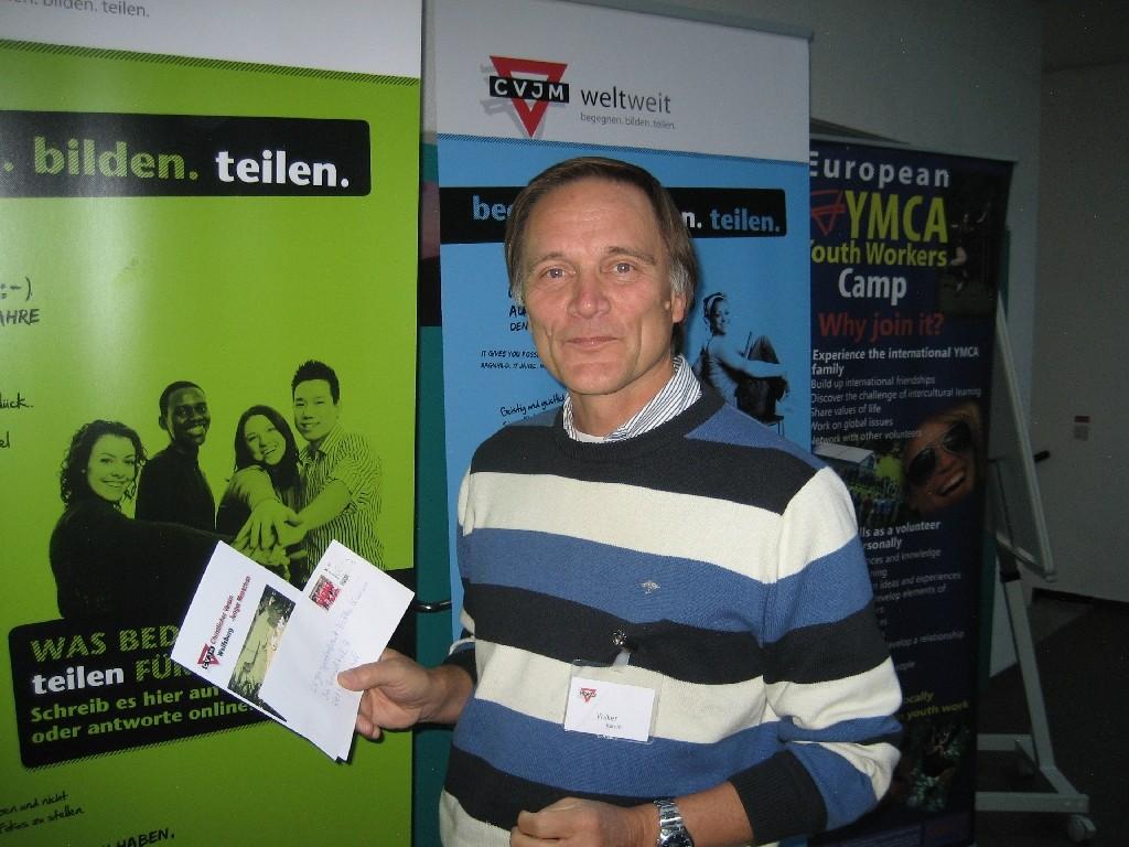 Volker Kamin vom deutschen CVJM