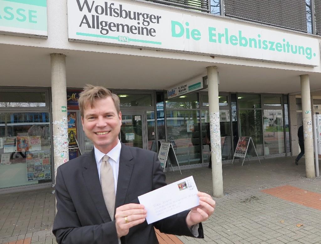 Dirk Borth von der Wolfsburger Allgemeinen Zeitung