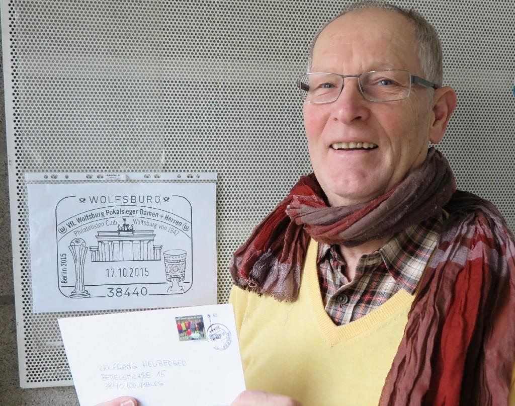 Wolfgang Heuberger von der ehemaligen Wolfsburger City Marketing Tourismus und Philatelisten Club Wolfsburg und Umgebung