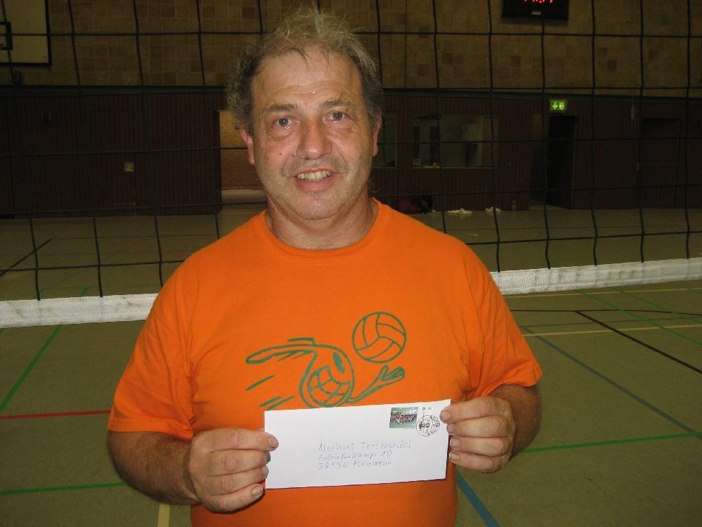 Norbert Terczweski vom Niedersächsischen Volleyball Verband, Förderer des Sozial- und Jugendvolleyballs im CVJM und der Westhagener Pausenliga