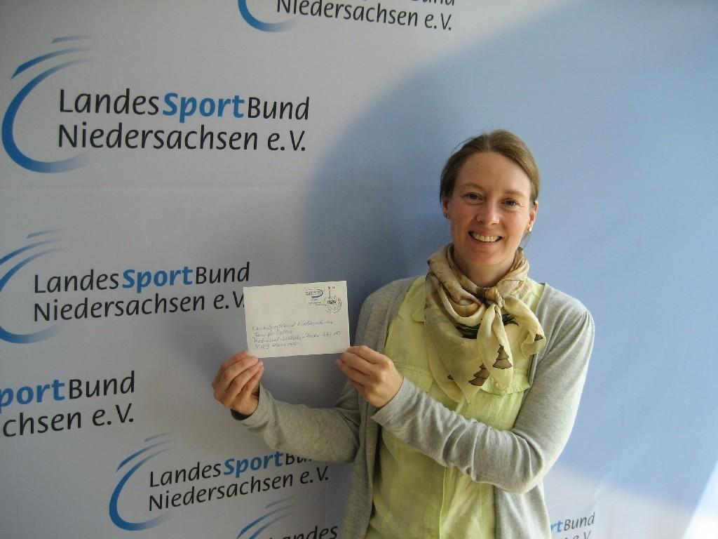 """Jennifer Osthus vom LandesSportBund (LSB) Niedersachsen von """"Integration durch Sport"""""""