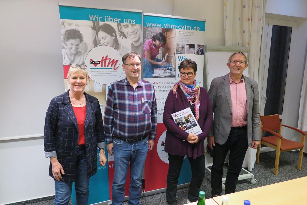 Ursel Luh-Maier (von links), Gerd , Sabine Drescher und Günter Lücking von der Vereinigung Hauptamtlicher Mitarbeiterinnen und Mitarbeiter im CVJM