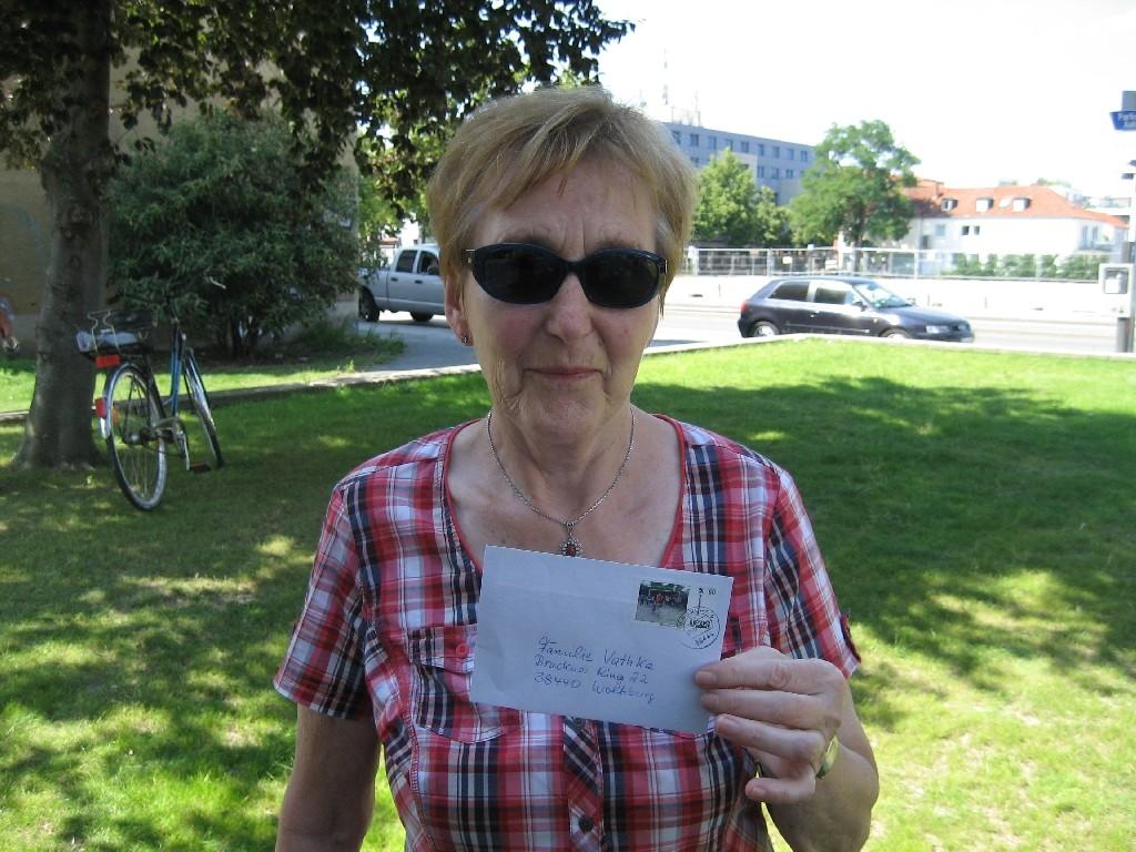 Sieghild Vathke von der CVJM-Sponsorenfahrt
