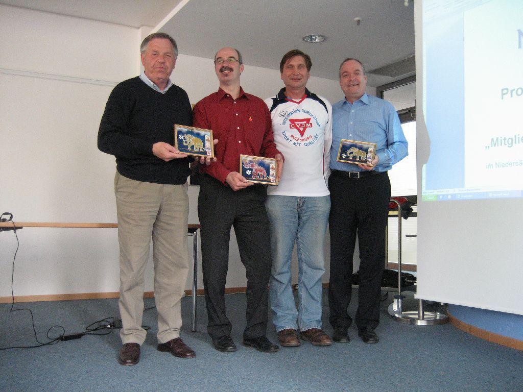 Peter Ibrom (links), Axel Burgdorf, Manfred Wille und Hubert Martens
