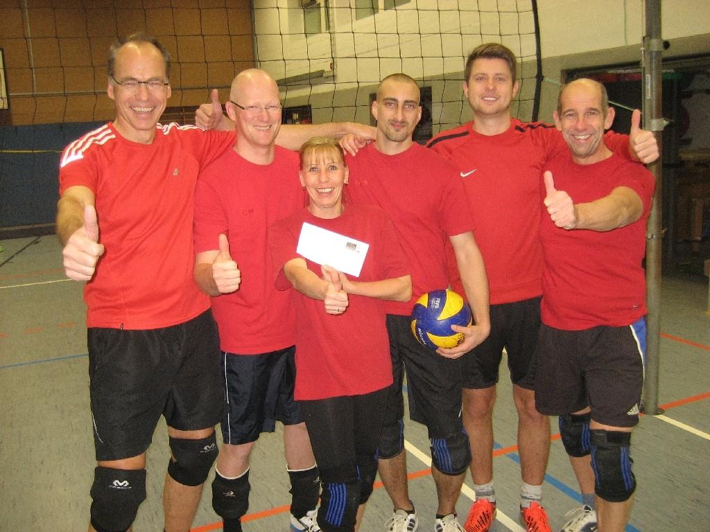 Volleyballer des TuS Ehra-Lessin, häufige Teilnehmer bei den Freizeitturnieren