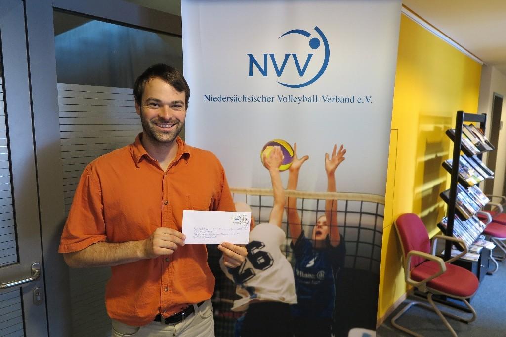 Aaron Dumke vom Niedersächsischen Volleyball Verband