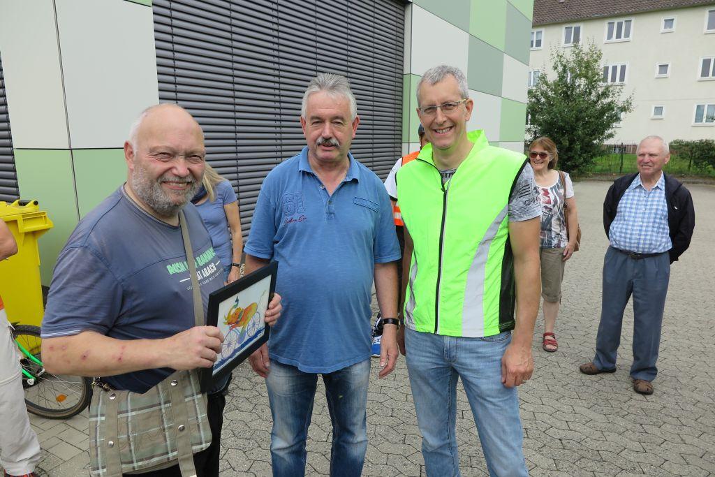 Klaus Brandl (links mit Bild), Michael Kühn und Michael Meixner