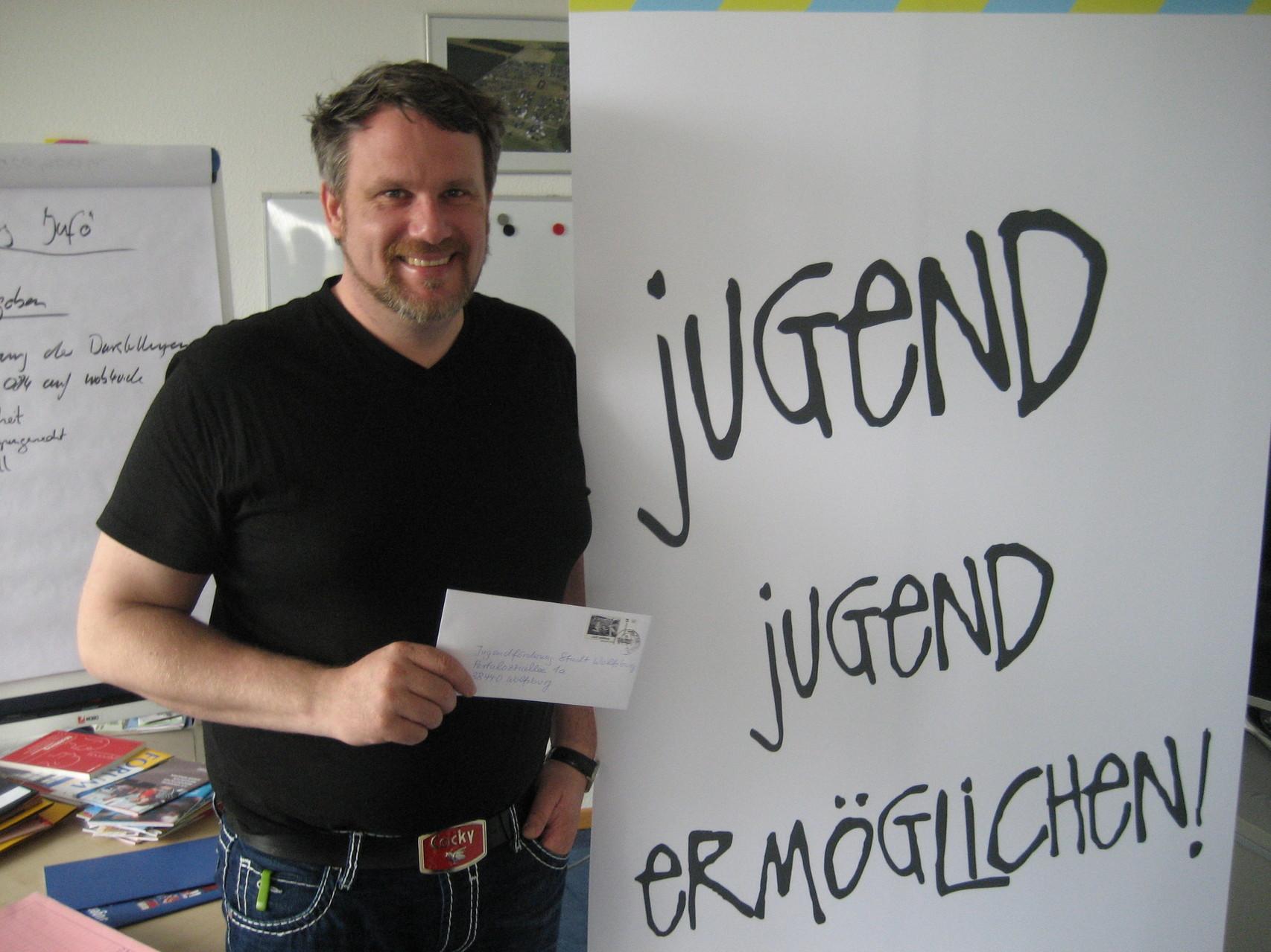 """Gunnar Czimczik aus dem Geschäftsbereich """"Jugend""""/ Jugendförderung der Stadt Wolfsburg"""