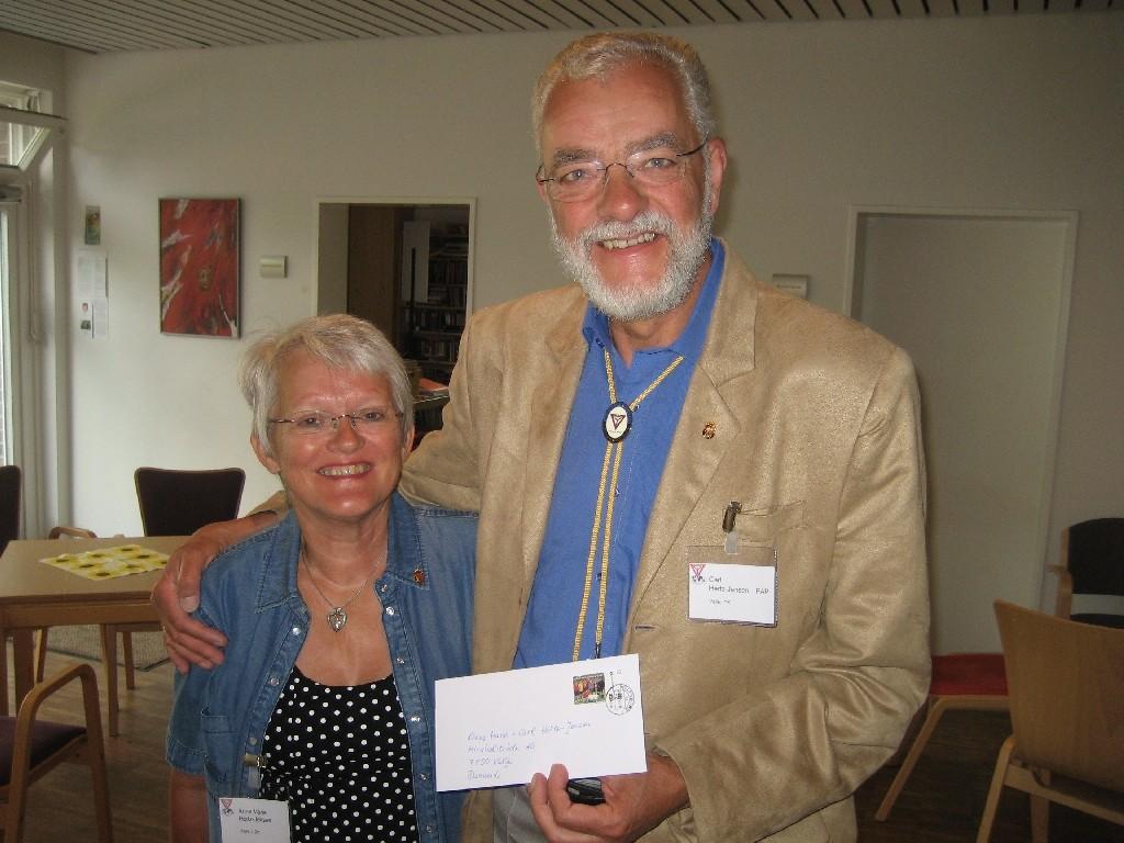 Anne Marie und Carl Hertz-Jensen Y's Men's Club Velje (Dänemark)