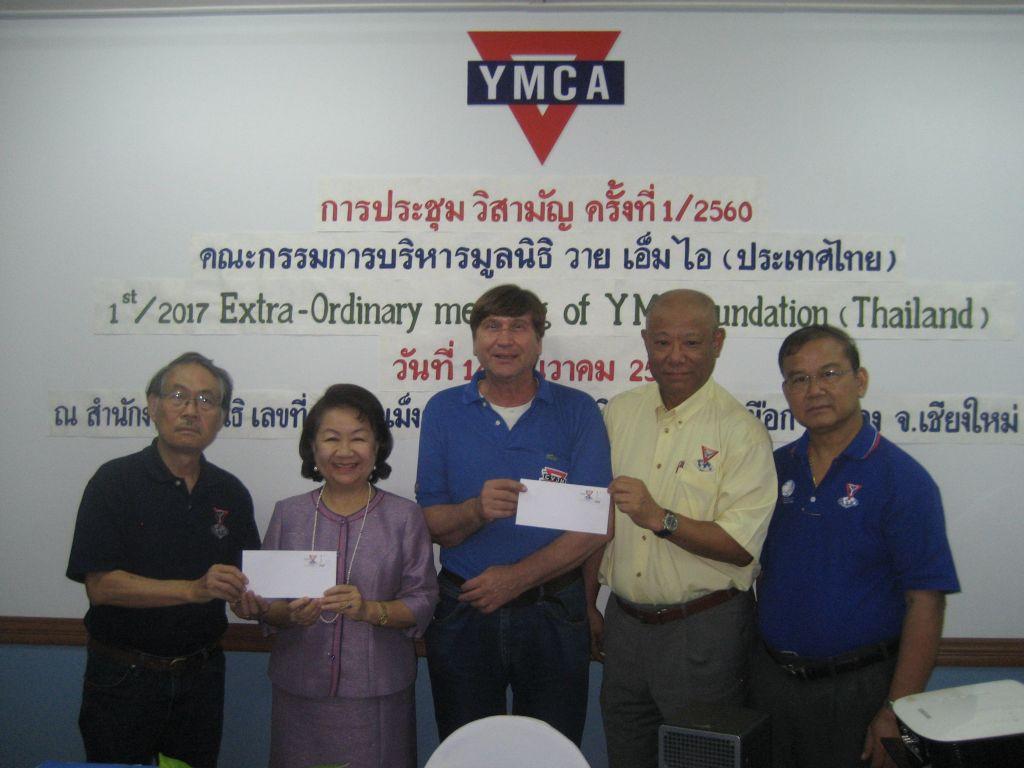 Y's Men's Club International 100 Jahre Jubiläum (v.l) Wichian Boonmapajorn, Dr. Patcharawan Srisilapanan, Manfred Wille, Takao Nishimura, Rachan Maneekarn