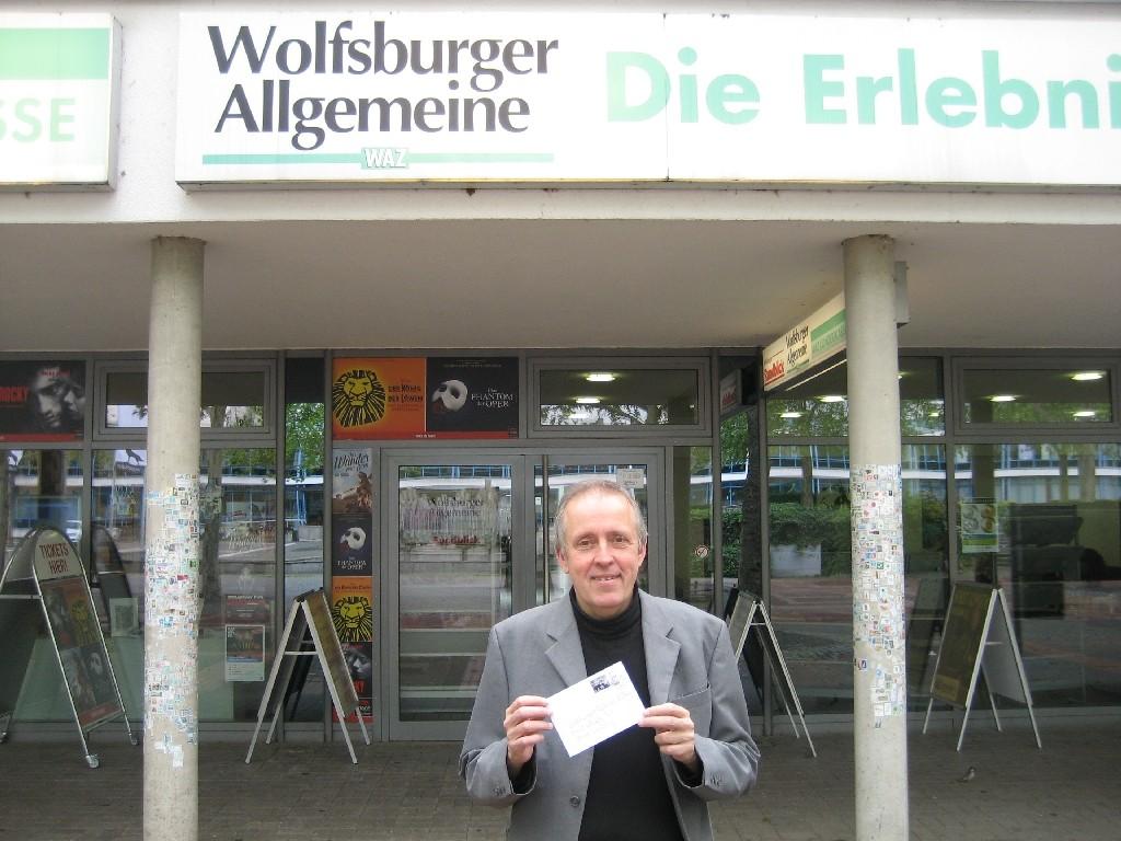 Carsten Baschin von der Wolfsburger Allgemeinen Zeitung