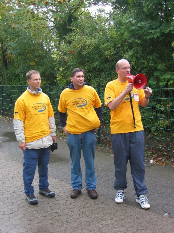 Ingolf Viereck, Manfred Wille und Frank-Michael Mücke (von rechts)