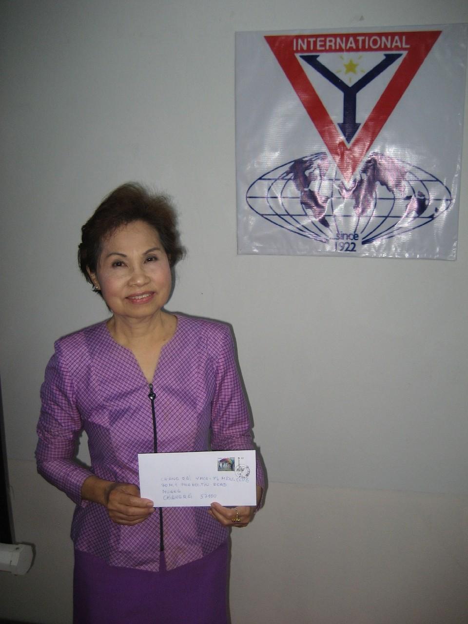 Dara Panyapruk vom YMCA Chiang Rai und vom Y's Men's Club Chiang Rai