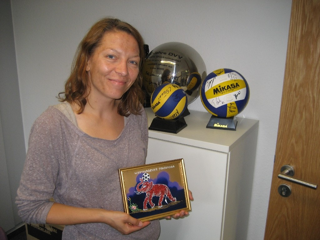 Katrin Siemon von der deutschen Volleyball Jugend und Deutschen Volleyball verband
