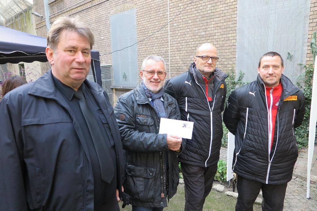 Justizvollzugsanstalt Wolfenbüttel Martin Berger (links), Dieter Münzebrock, Andreas Rehr und Mario Loba