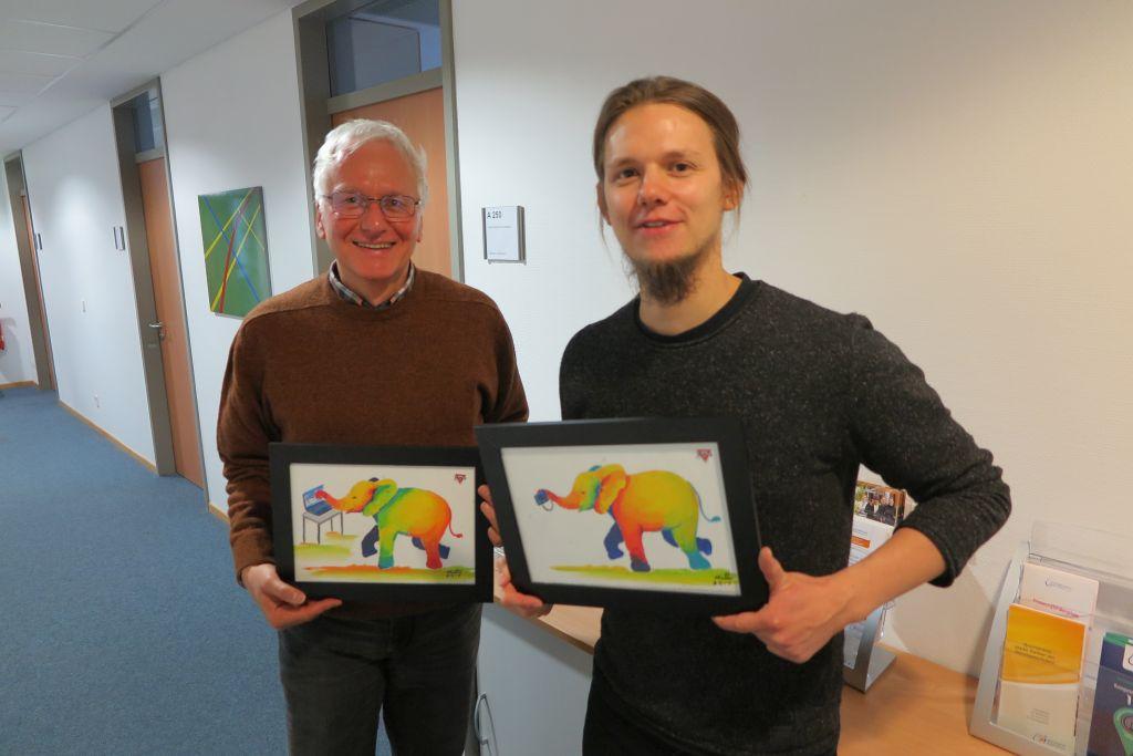 Alexander Stünkel (links) und Tobias Fricke vom LandesSportBund Niedersachsen