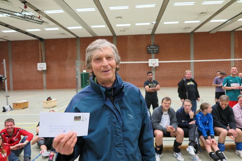 Boleslaw Szafnicki, Urgestein bei den Volleyball-Freizeitturnieren des CVJM