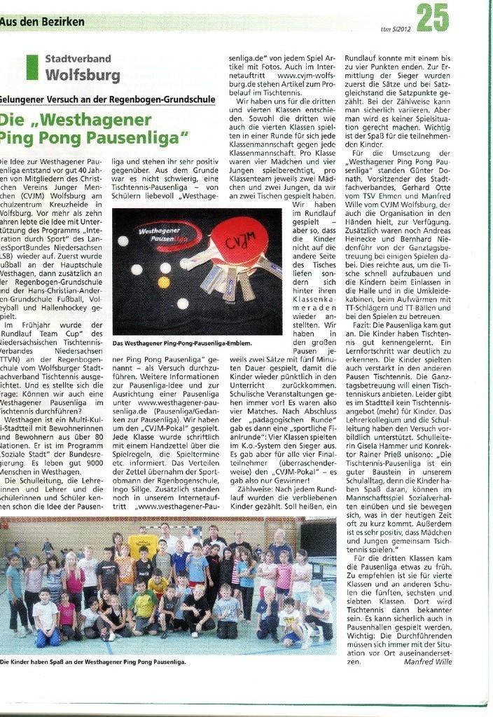Tischtennis Magazin des Tischtennis Verbandes Niedersachsen