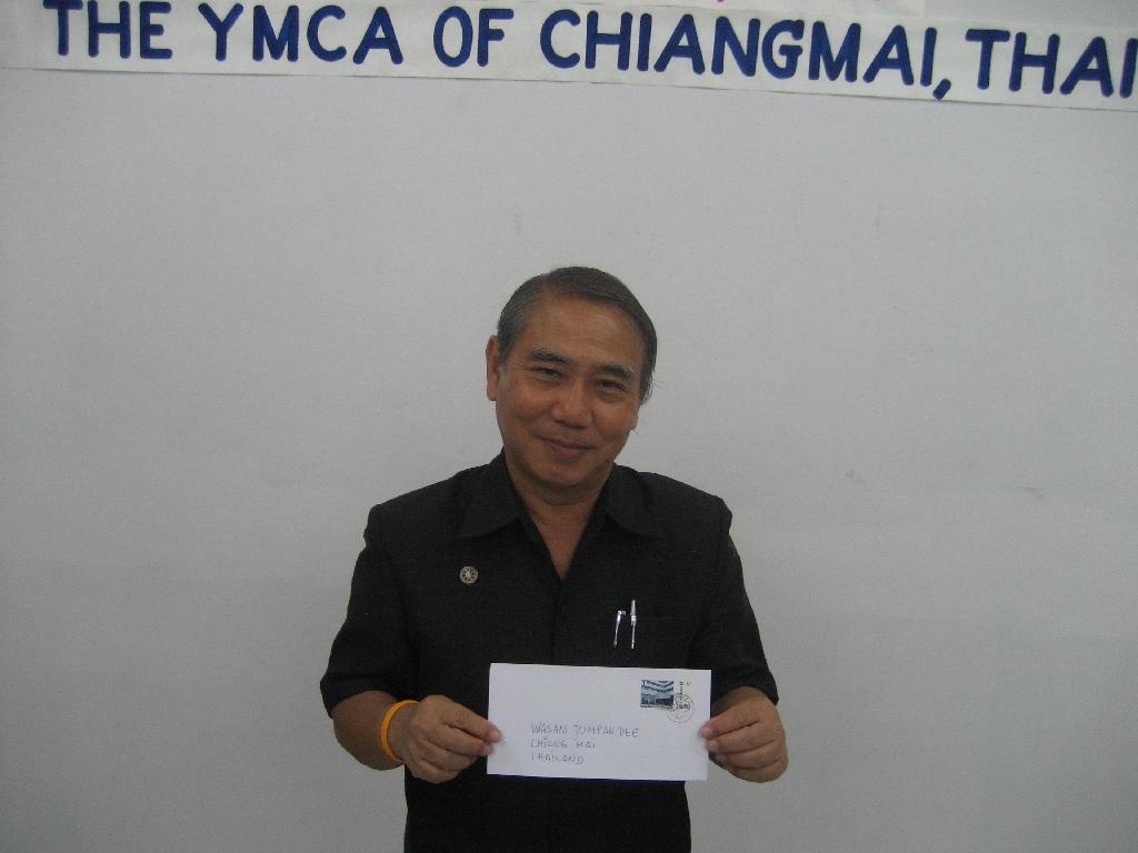 Wasan Jompakdee vom YMCA Chiang Mai und vom Y's Men's Club Chiang Mai/Nordthailand