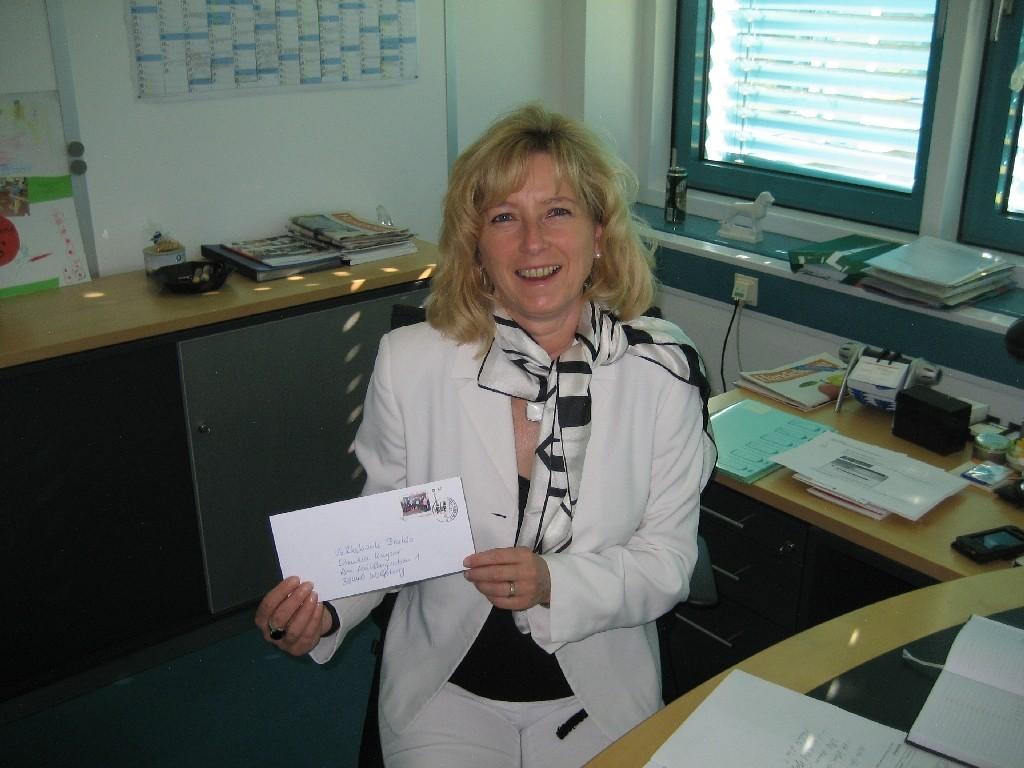 """Claudia Kayser von der Volksbank BraWo und Mitorganisatorin """"Sterne des Sports"""""""