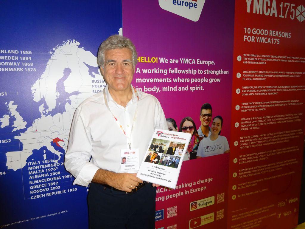 Juan Simones Iglesias, Generalsekretär YMCA Europa