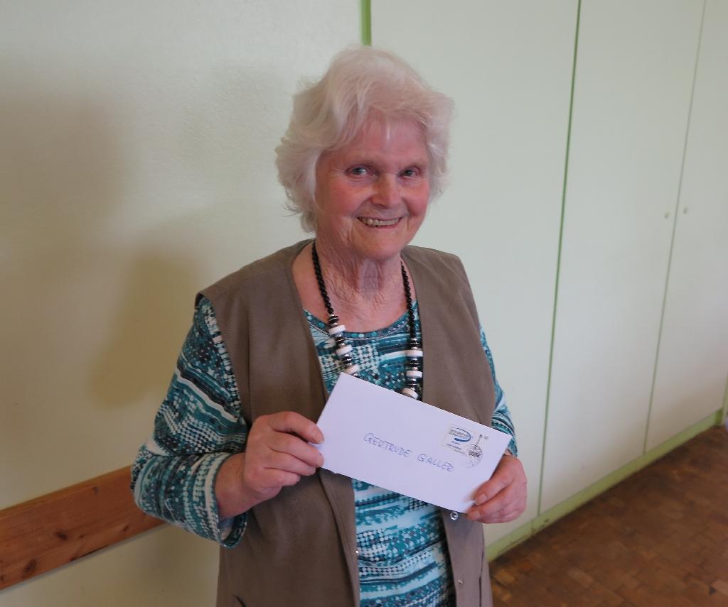Gertrude Galler vom Seniorenkreis der katholischen St. Elisabeth-Kirchengemeinde