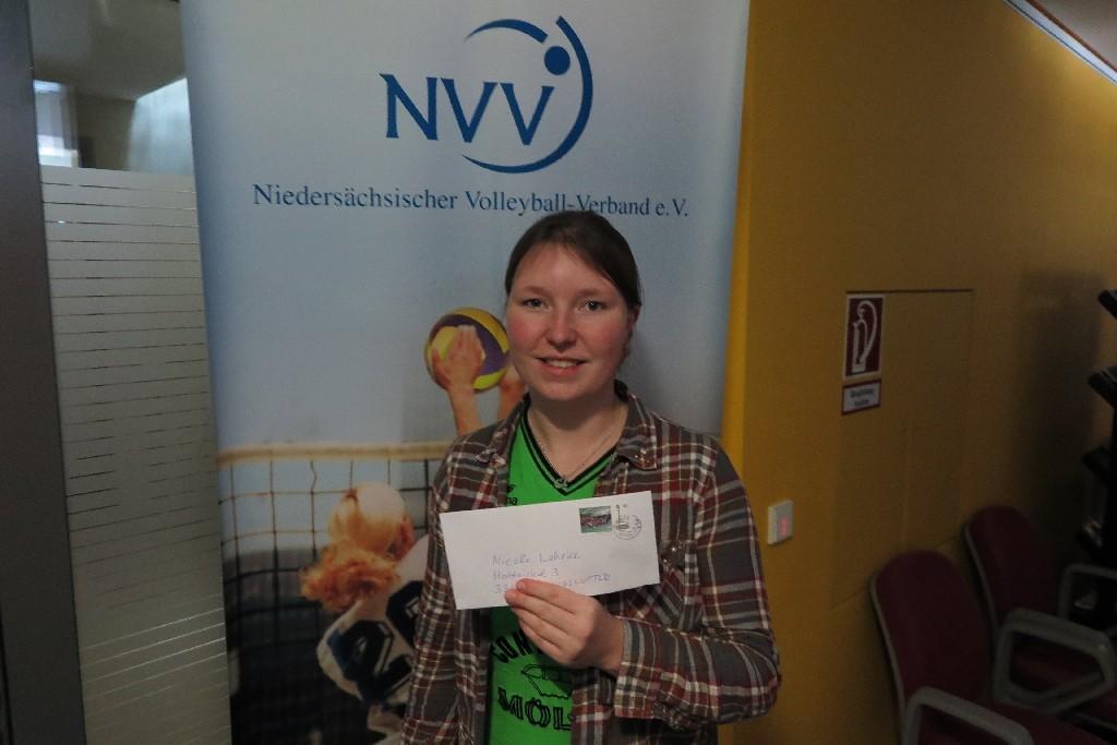 Nicole Lehrke vom Niedersächsischen Volleyball Verband