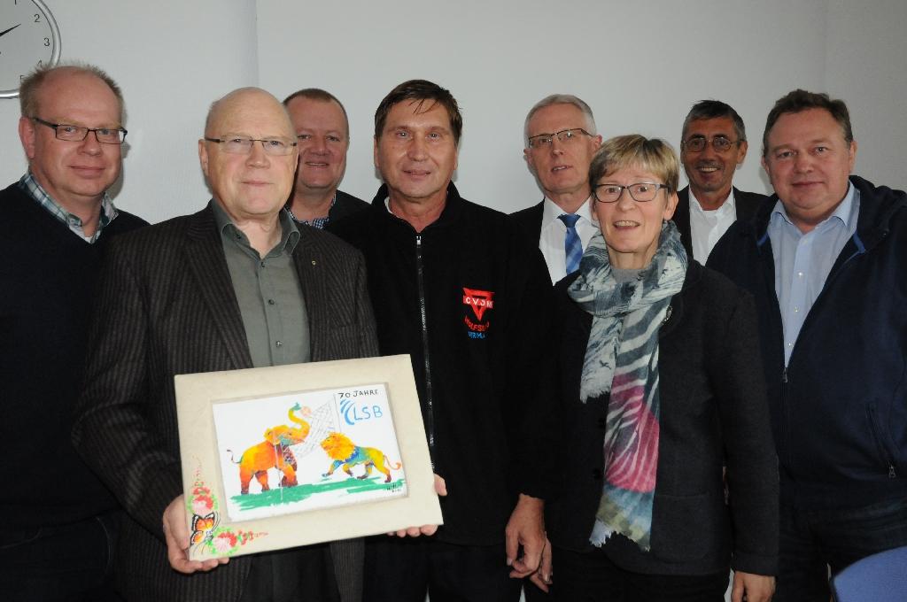 Thomas Dyszack (vl), Thorsten Schulte, Wolf-Rüdiger Umbach, Manfred Wille, Reinhard Rawe, Gabriele Wach, Norbert Engelhardt, Michael Koop