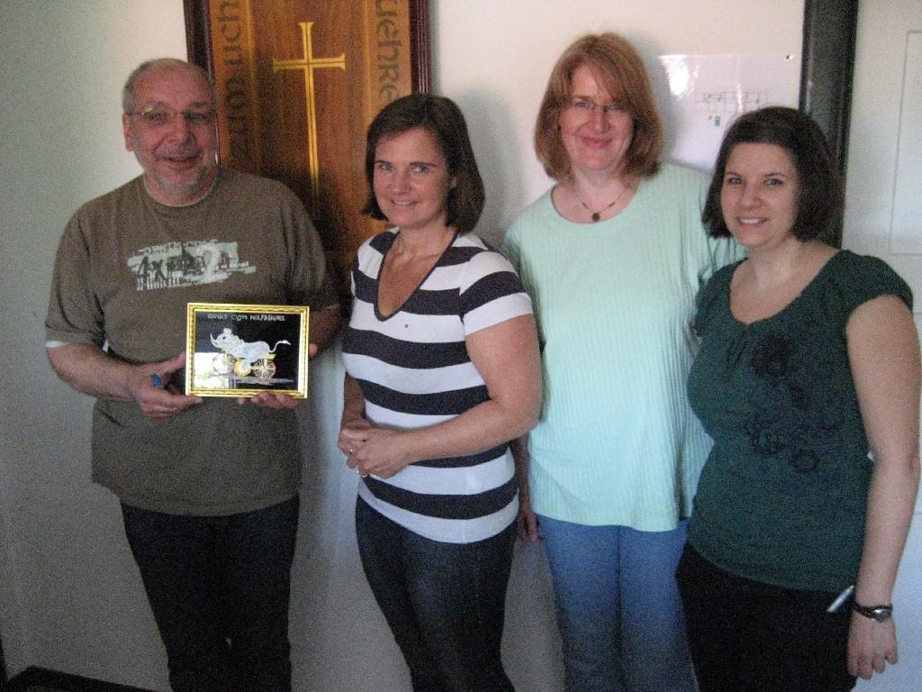 Geschäftsstelle des CVJM-Landesverbandes Hannover (Uwe Lege (links), Anne Rammelkamp, Bärbel Hohmann und Sarah Vogel)