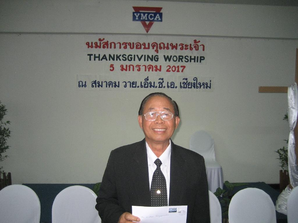 Somboon Panyaprouks vom YMCA Chaing Mai und YMCA Chiang Rai