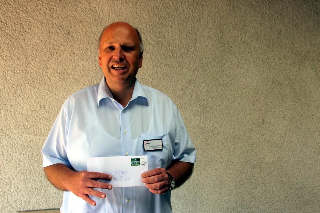 Martin Stützer TTC Magni Braunschweig und Sozialtischennisspieler bei Besuchen in der Justizvollzugsanstalt Wolfenbüttel
