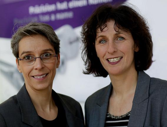 From the left: Stephanie Holzmann and Maria Barthels