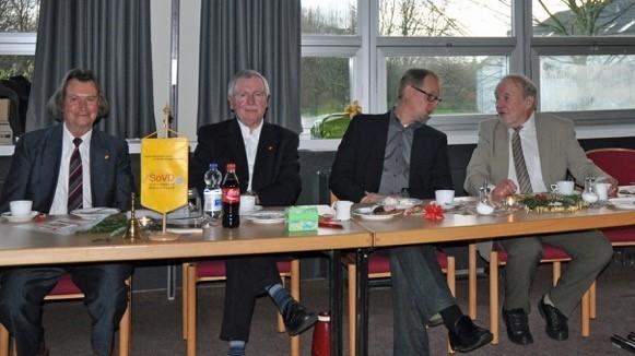 Bild 1: v.l.n.r. Peter Wöhlert, Helmut Uder, Björn Warmer und Ernst-Dieter Lohmann