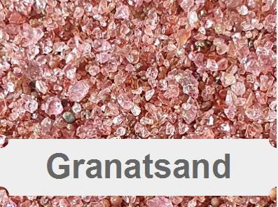Granatsand, mineralische Strahlmittel, Strahlsand, Garnet