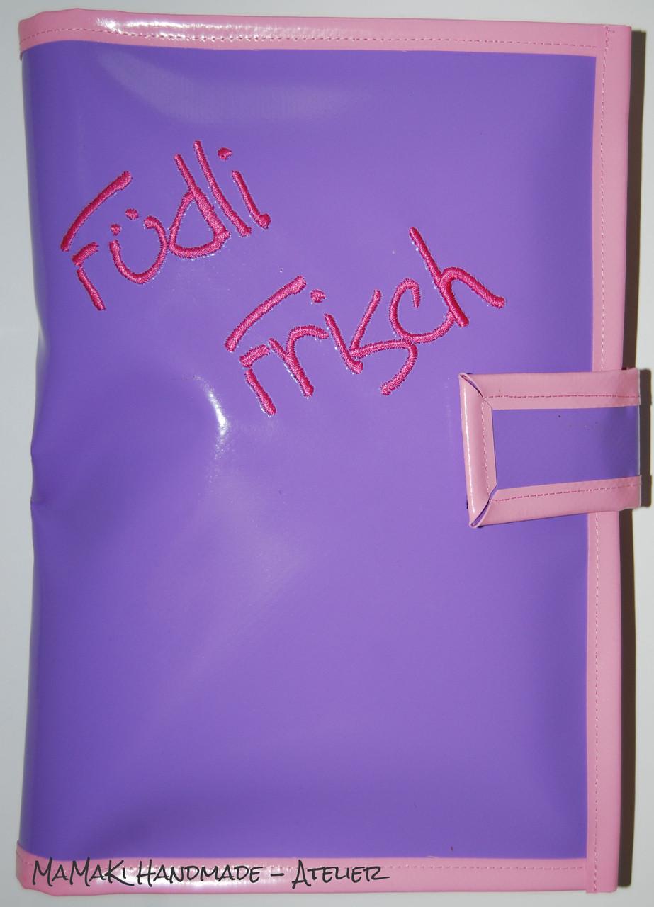 MINI bestickt / flieder, rosa, pink